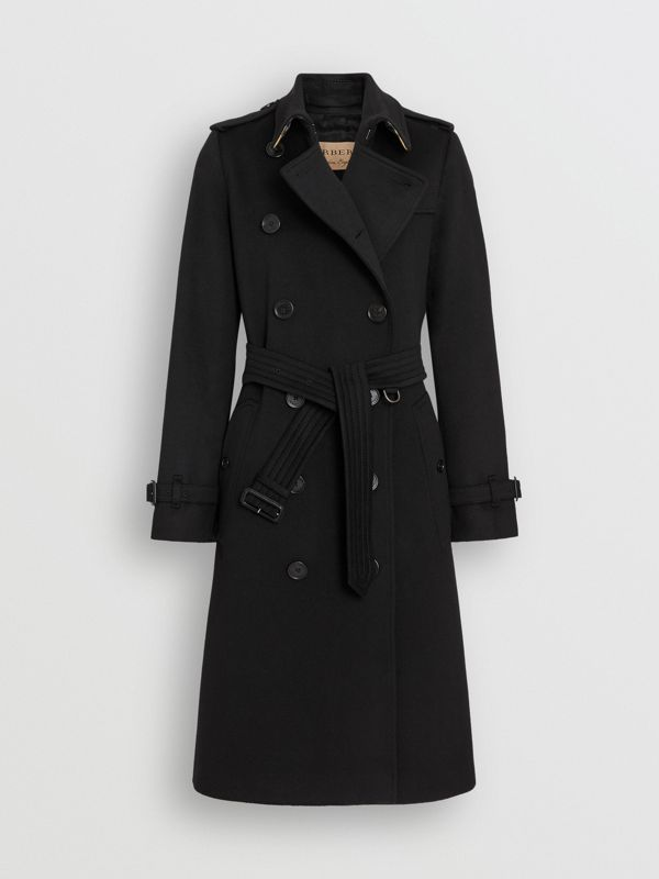 Cashmere Trench Coat in Black - Women | Burberry United States - cell image 3