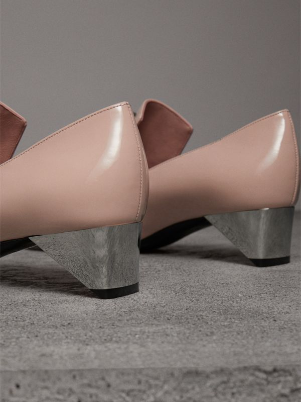 Stud Detail Patent Leather Pumps in Pale Fawn Pink - Women | Burberry Hong Kong - cell image 3