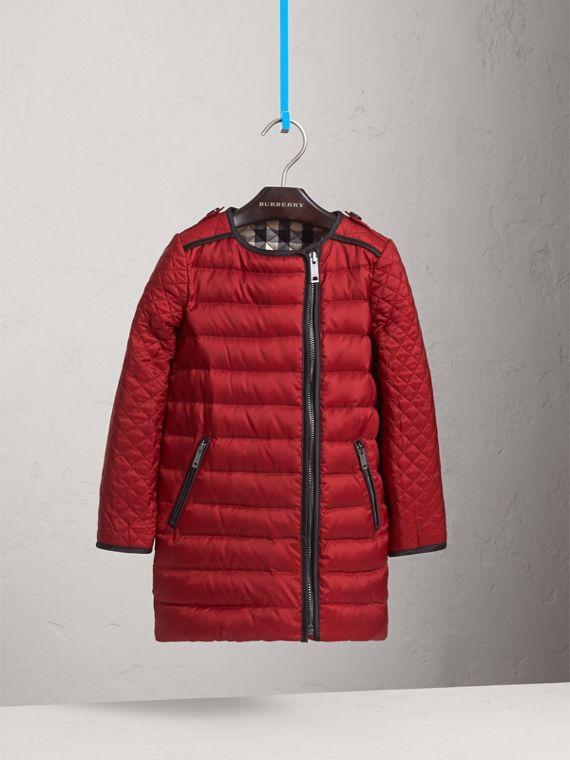 Quilted Down-filled Coat in Crimson Red - Girl | Burberry - cell image 2