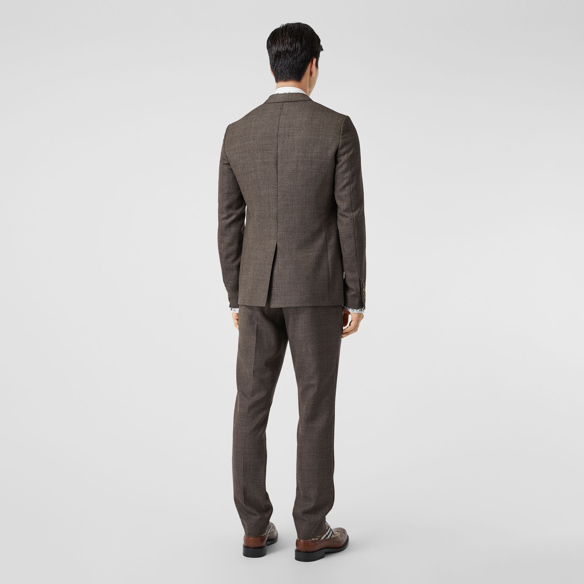 Slim Fit Wool Suit in Dark Brown - Men | Burberry - gallery image 2