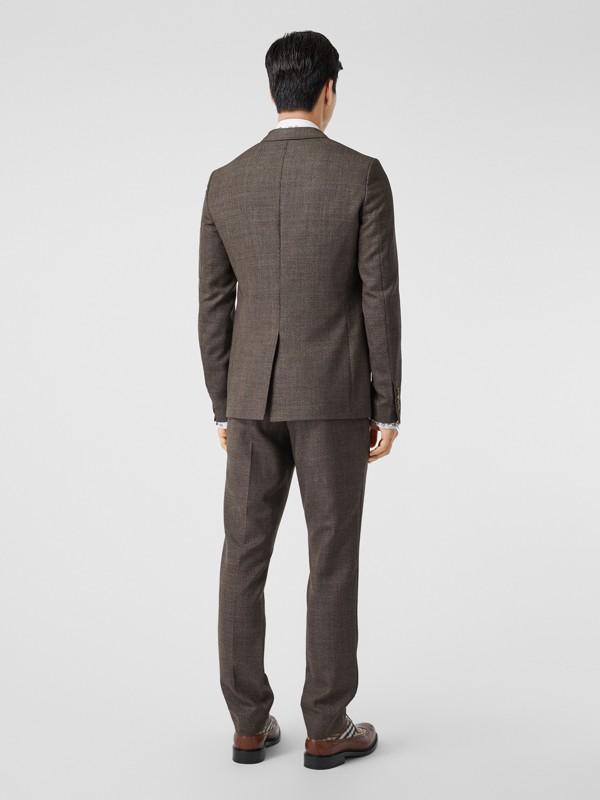 Slim Fit Wool Suit in Dark Brown - Men | Burberry - cell image 2