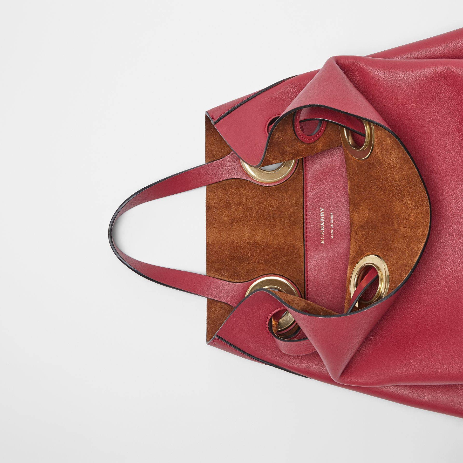 The Leather Grommet Detail Backpack in Crimson - Women | Burberry - gallery image 5