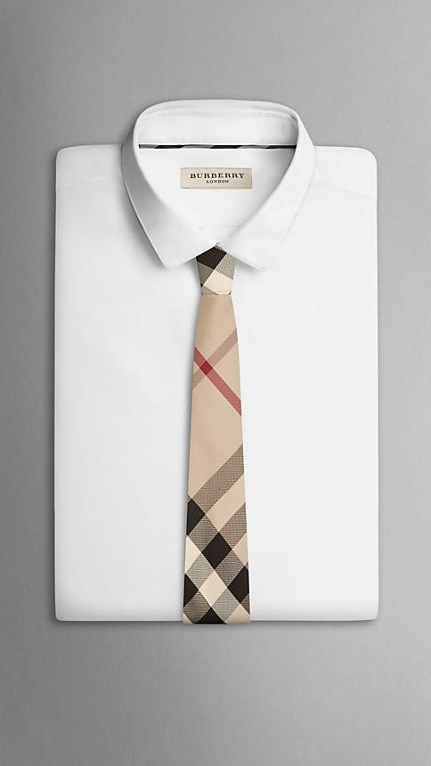 New classic check Check Silk Tie - Image 3
