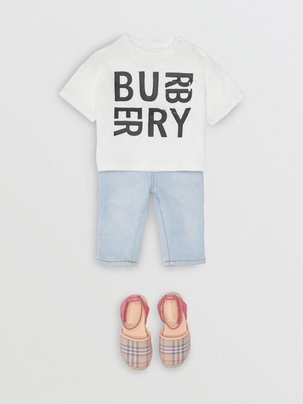 Relaxed Fit Pull-on Stretch Denim Jeans in Light Blue - Children | Burberry Australia - cell image 2