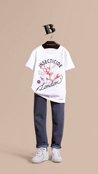 Playful Print Cotton T-Shirt