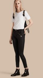 Skinny Fit High-rise Coated Stretch Denim Jeans