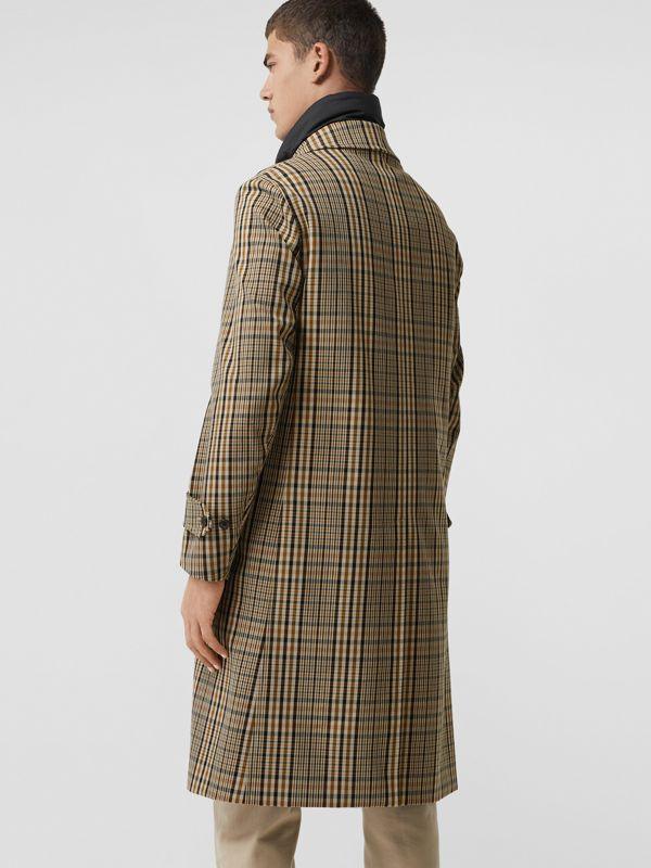 Check Car Coat with Detachable Gilet in Dark Camel - Men | Burberry Singapore - cell image 2