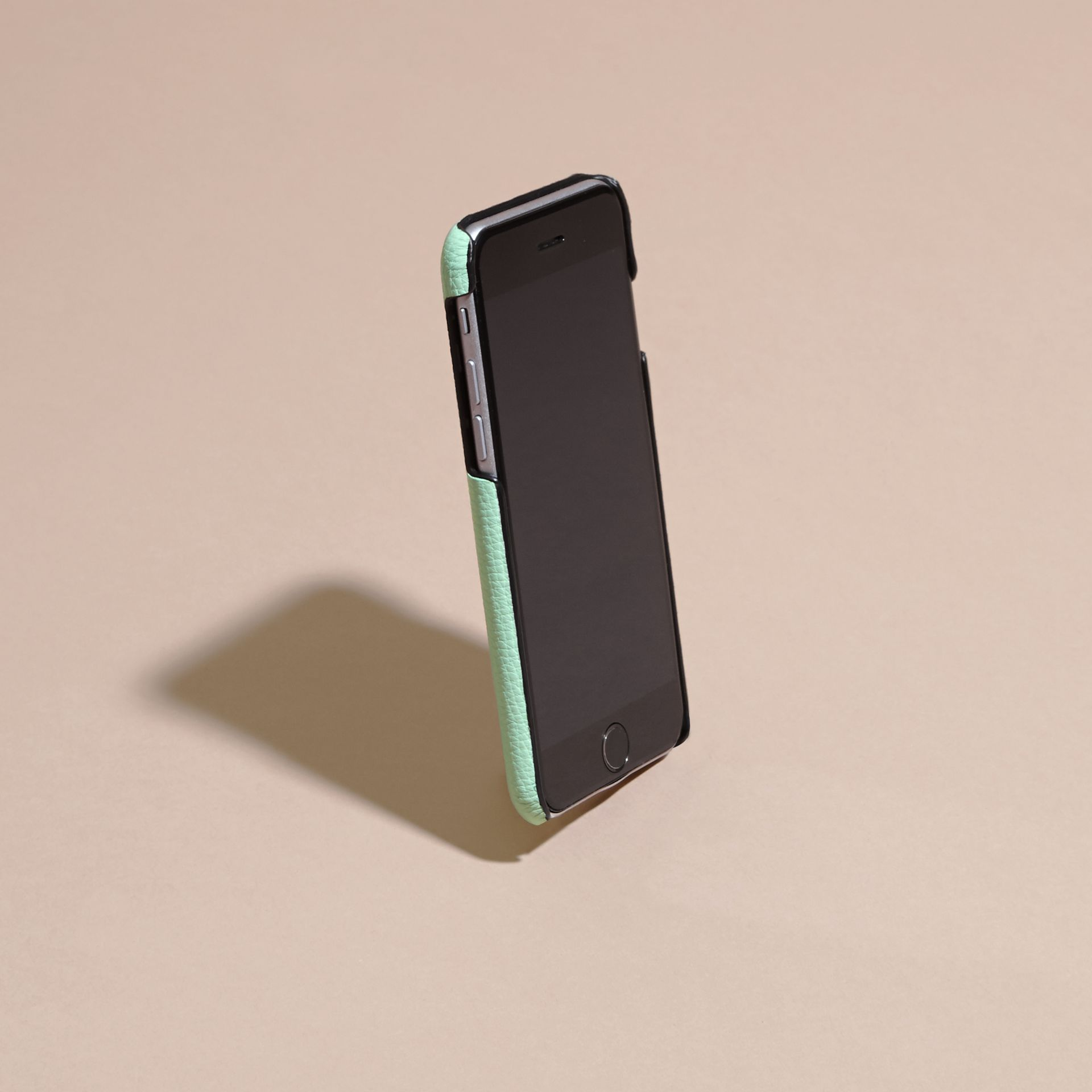 Grainy Leather iPhone 6 Case in Light Mint | Burberry - gallery image 3