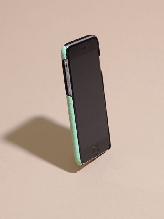 Grainy Leather iPhone 6 Case in Light Mint - Women | Burberry Hong Kong - cell image 2