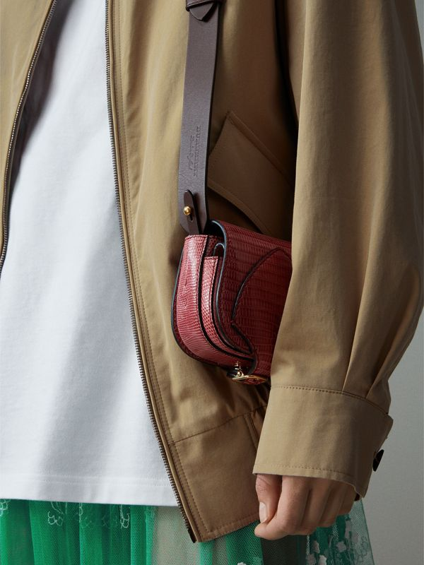 The Pocket Satchel in Lizard in Dark Crimson - Women | Burberry Australia - cell image 2
