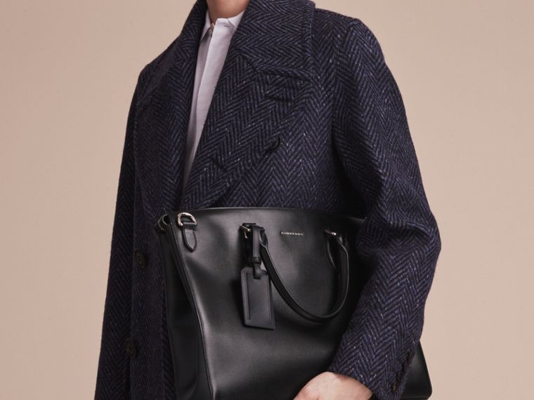Large London Leather Briefcase Black - cell image 4