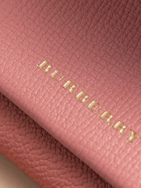 Leather Coin Case with Removable Card Compartment in Dusty Pink/multi - Women | Burberry United Kingdom - cell image 2