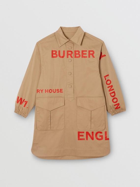 호스페리 프린트 코튼 셔츠 드레스 (허니)