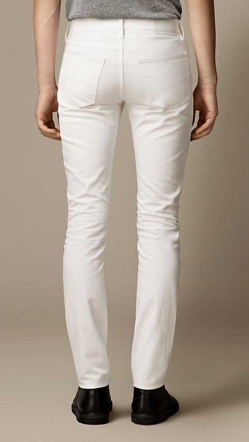 New white Slim Fit White Jeans - Image 2