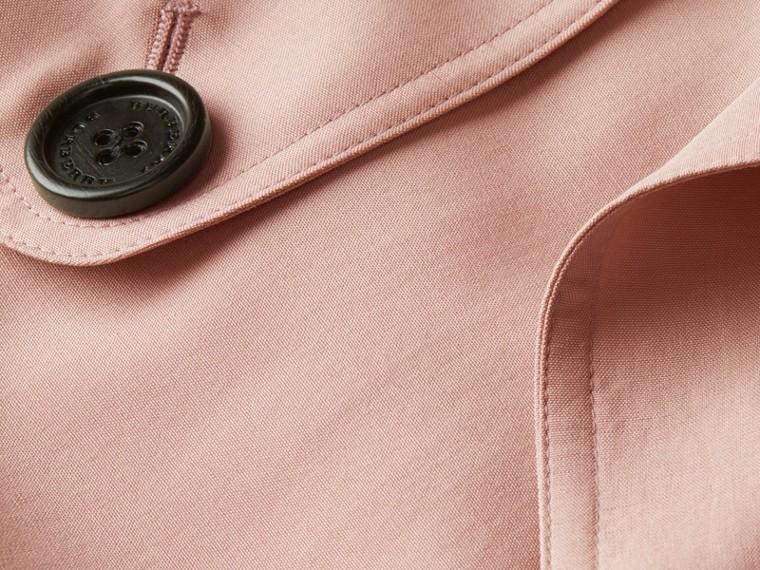 Chalk pink Lightweight Slub Silk Wrap Trench Coat - cell image 1