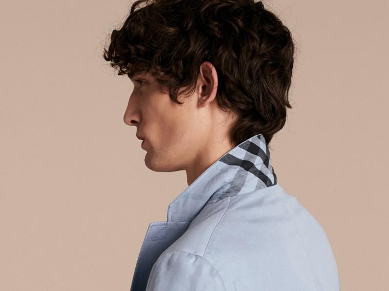Slim Fit Cotton Linen Jacket - cell image 4