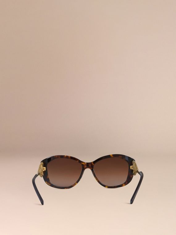 Tortoise shell Gabardine Lace Collection Square Frame Sunglasses Tortoise Shell - cell image 2