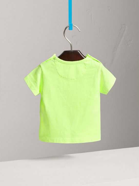 Doodle Print Cotton Jersey T-shirt in Bright Lemon | Burberry Australia - cell image 3