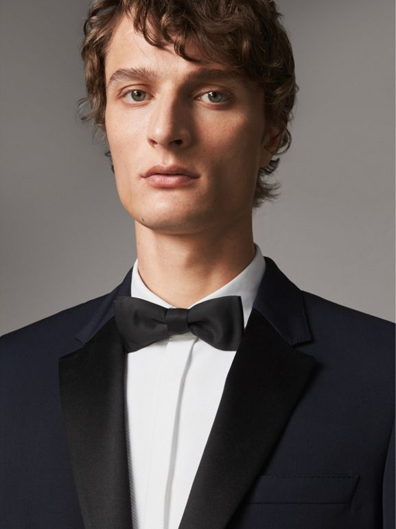 Modern Fit Virgin Wool Half-canvas Tuxedo in Navy - Men | Burberry - cell image 1