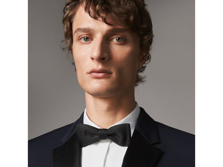 Modern Fit Virgin Wool Half-canvas Tuxedo in Navy - Men | Burberry United Kingdom - cell image 1