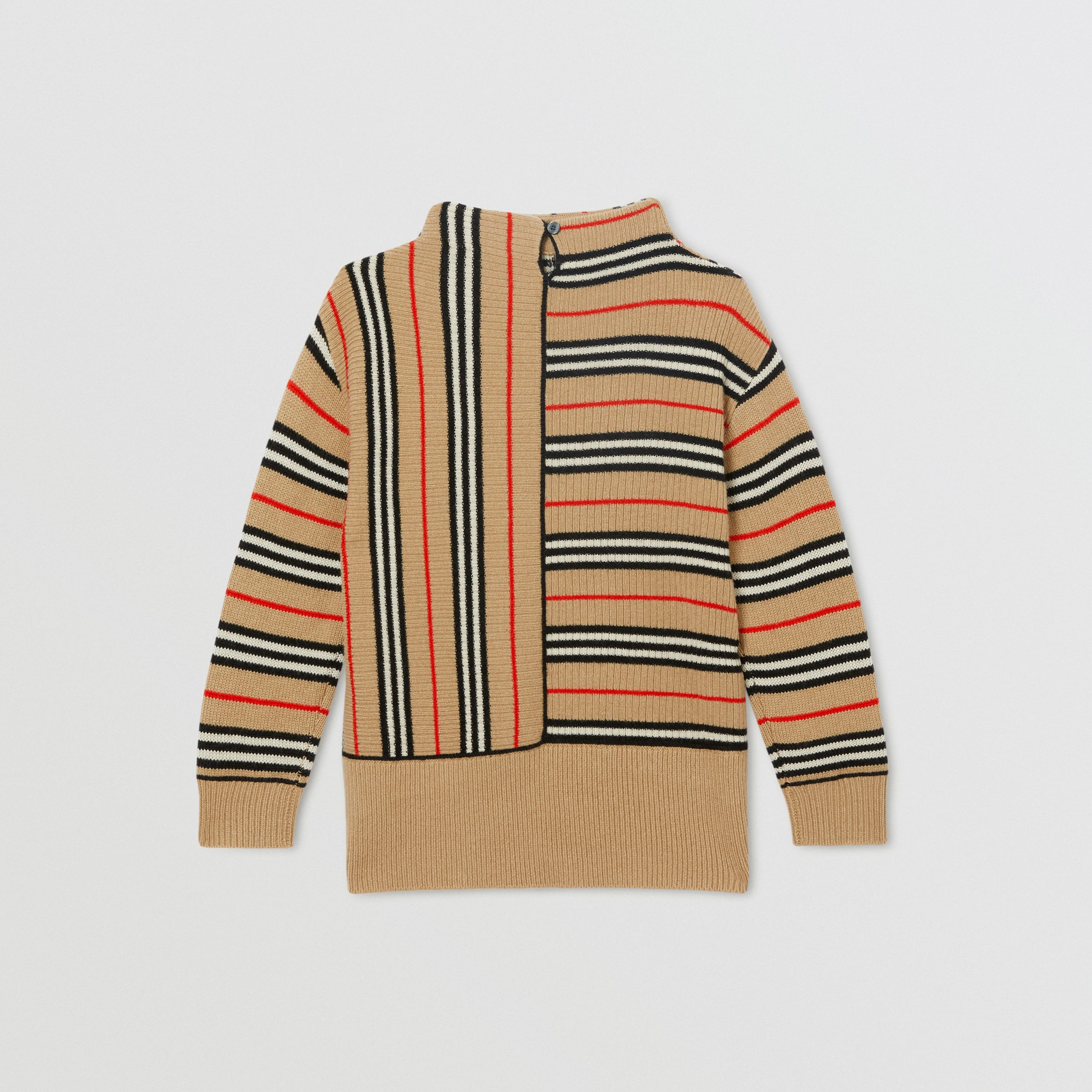 Contrast Icon Stripe Cashmere Wool Sweater in Archive Beige | Burberry - 4