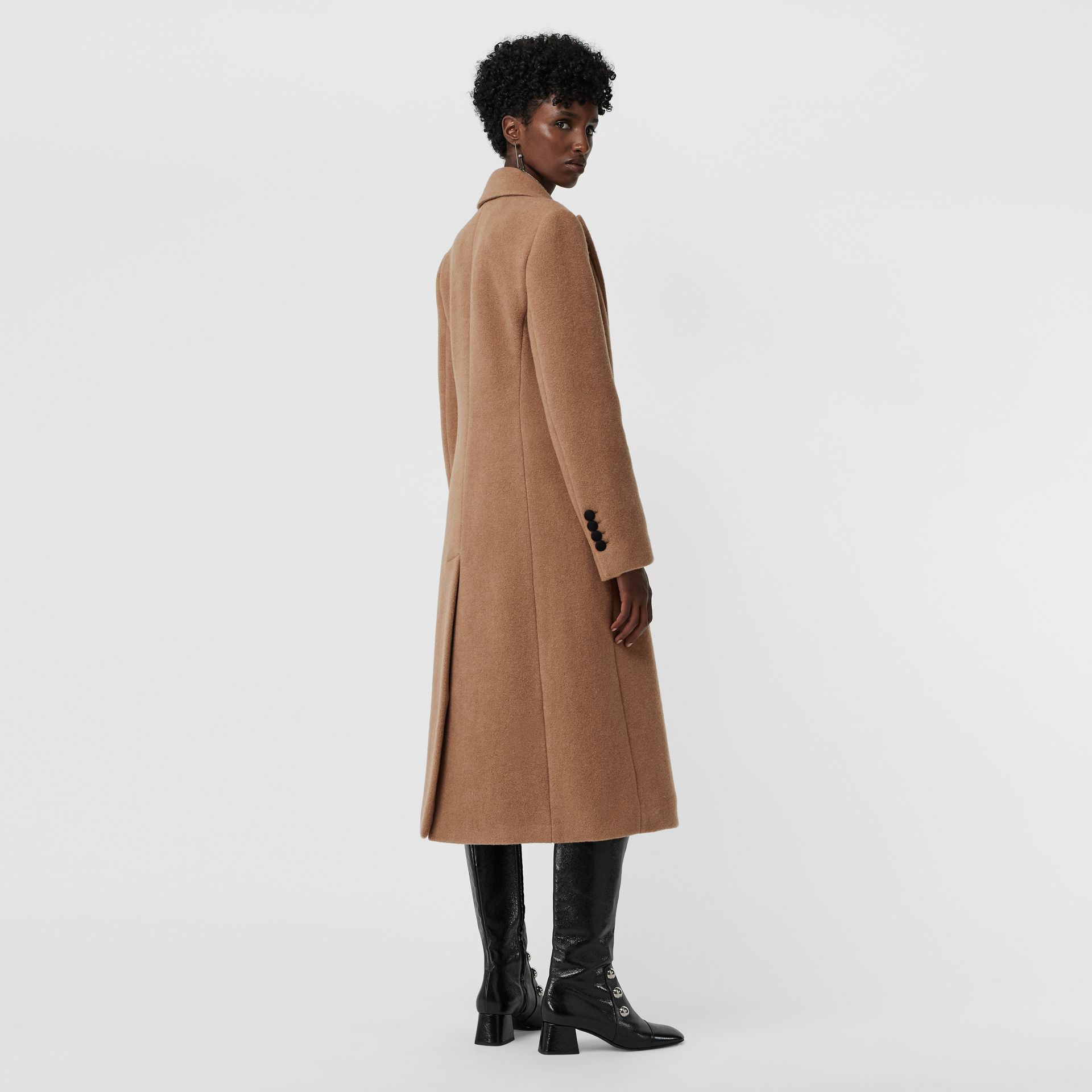 Oversized Lapel Camel Hair Tailored Coat - Women | Burberry - gallery image 2