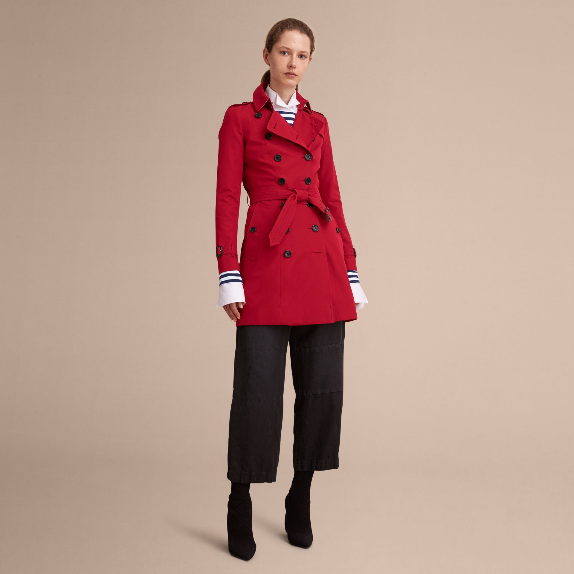 Parade red The Chelsea – Mid-length Heritage Trench Coat Parade Red - gallery image 8