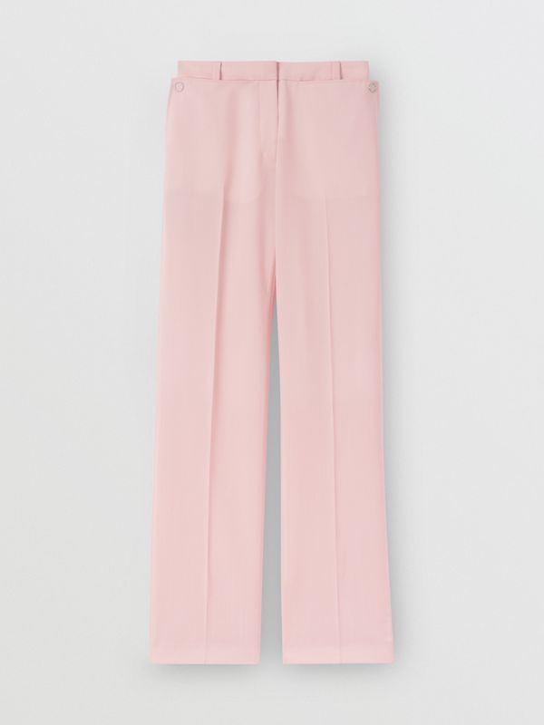 Pocket Detail Tumbled Wool Tailored Trousers in Soft Pink | Burberry United Kingdom - cell image 3