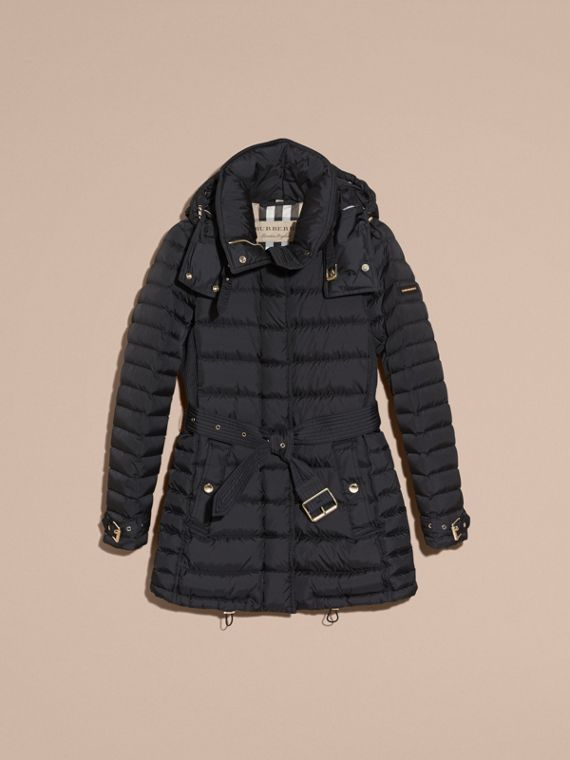 Navy Down-filled Puffer Jacket with Packaway Hood - cell image 3