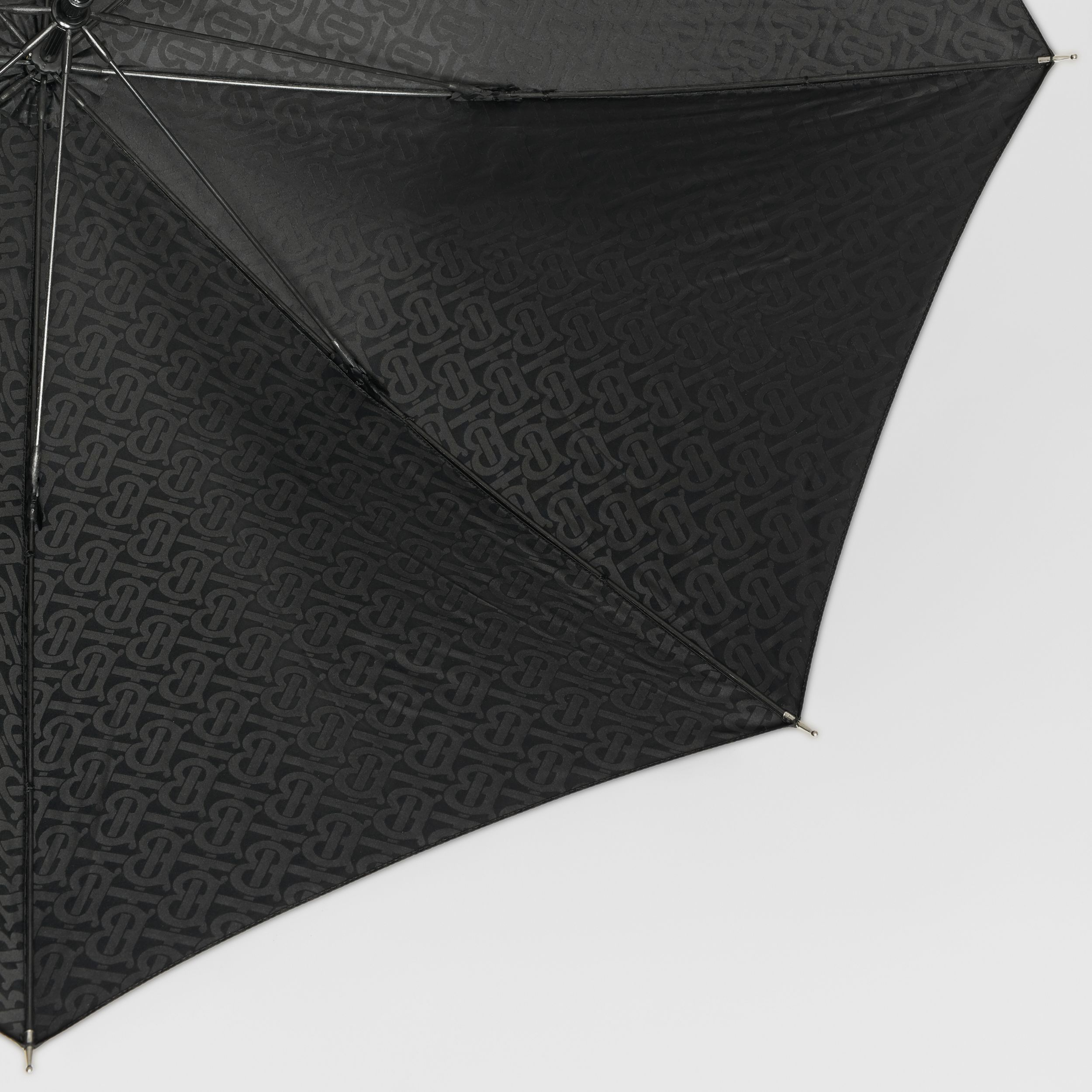 Monogram Print Umbrella in Black | Burberry United States - 2