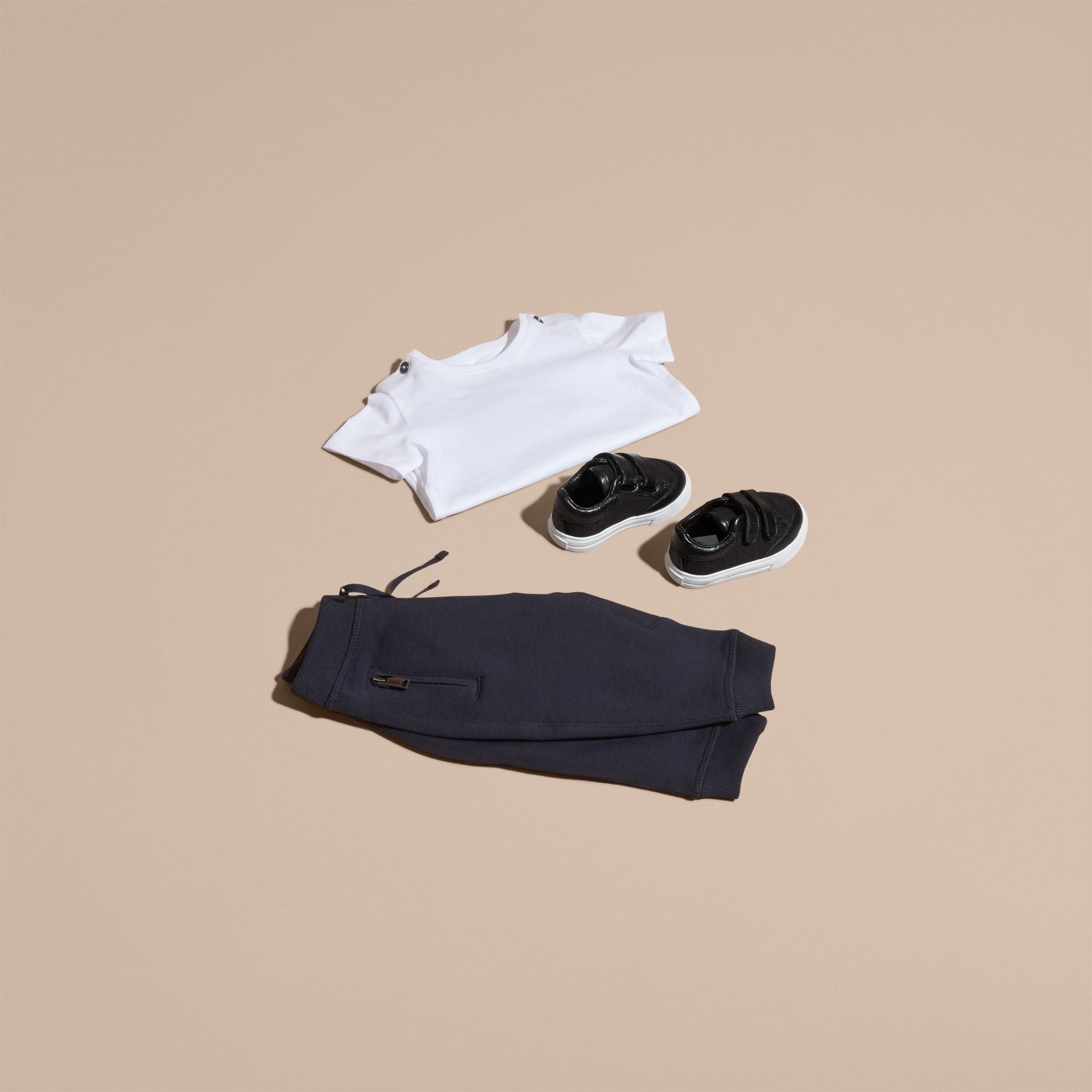 Marine foncé Pantalon de survêtement en coton - photo de la galerie 5
