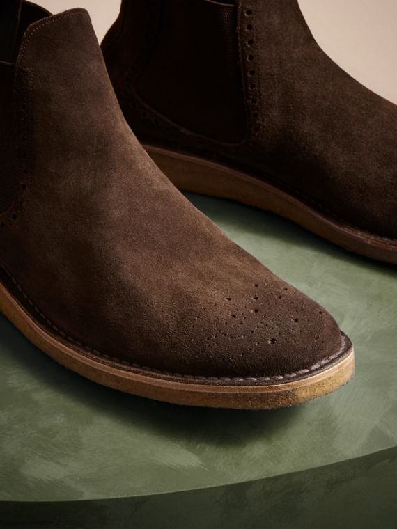 Peat brown Washed-suede Chelsea Boots with Crepe Soles - cell image 2
