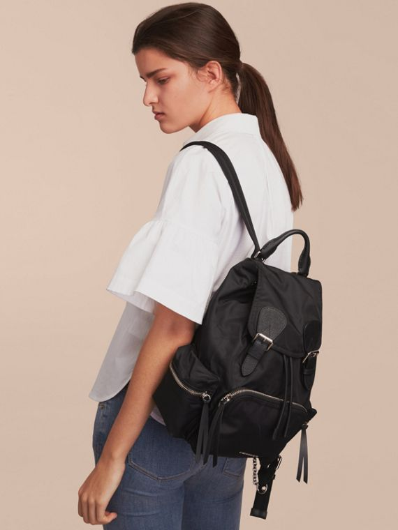 The Medium Rucksack in Nylon and Leather - cell image 2