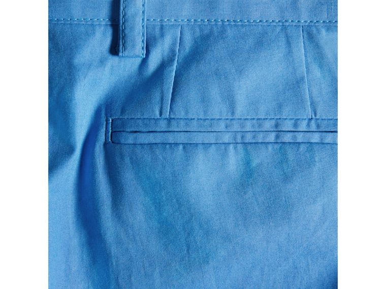 Tailored Cotton Poplin Trousers in Azure Blue - Boy | Burberry - cell image 1