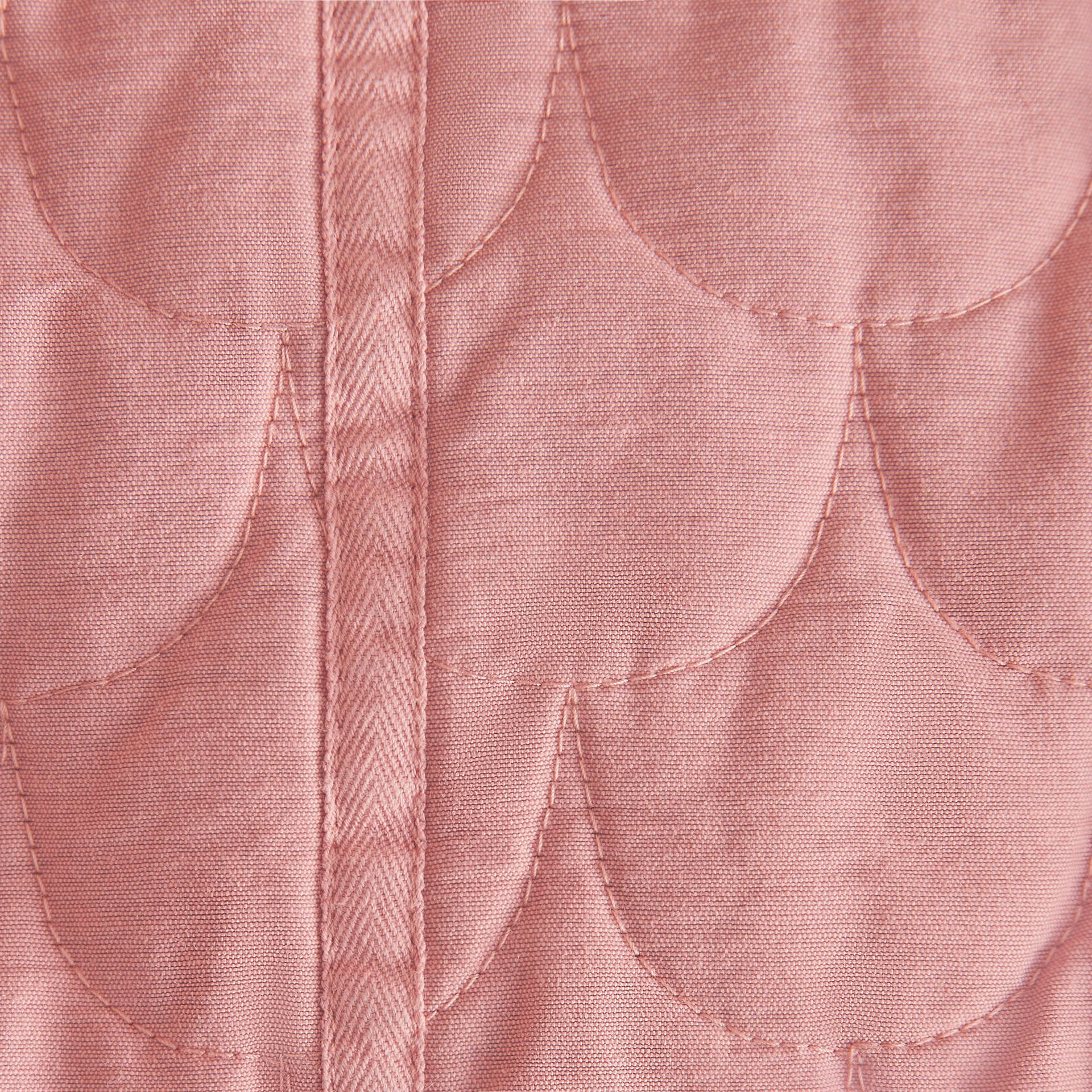 Quilted Collarless Cotton Blend Jacket - gallery image 2