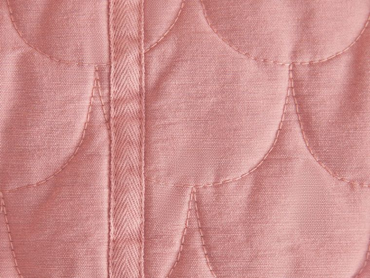 Quilted Collarless Cotton Blend Jacket - cell image 1