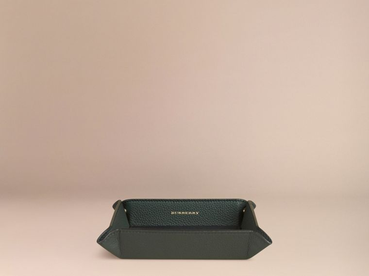 Dark forest green Grainy Leather Valet Tray Dark Forest Green - cell image 2