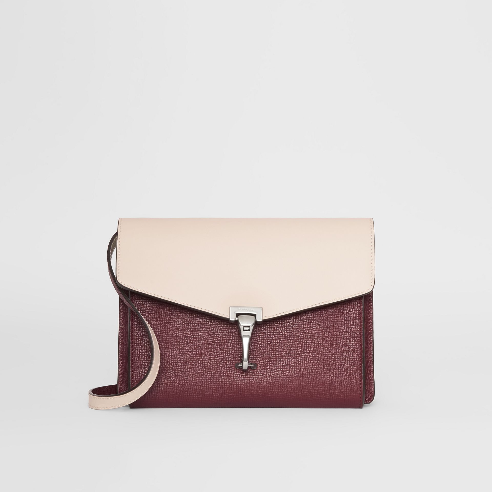 Two-tone Leather Crossbody Bag in Mahogany Red/limestone - Women | Burberry - gallery image 0