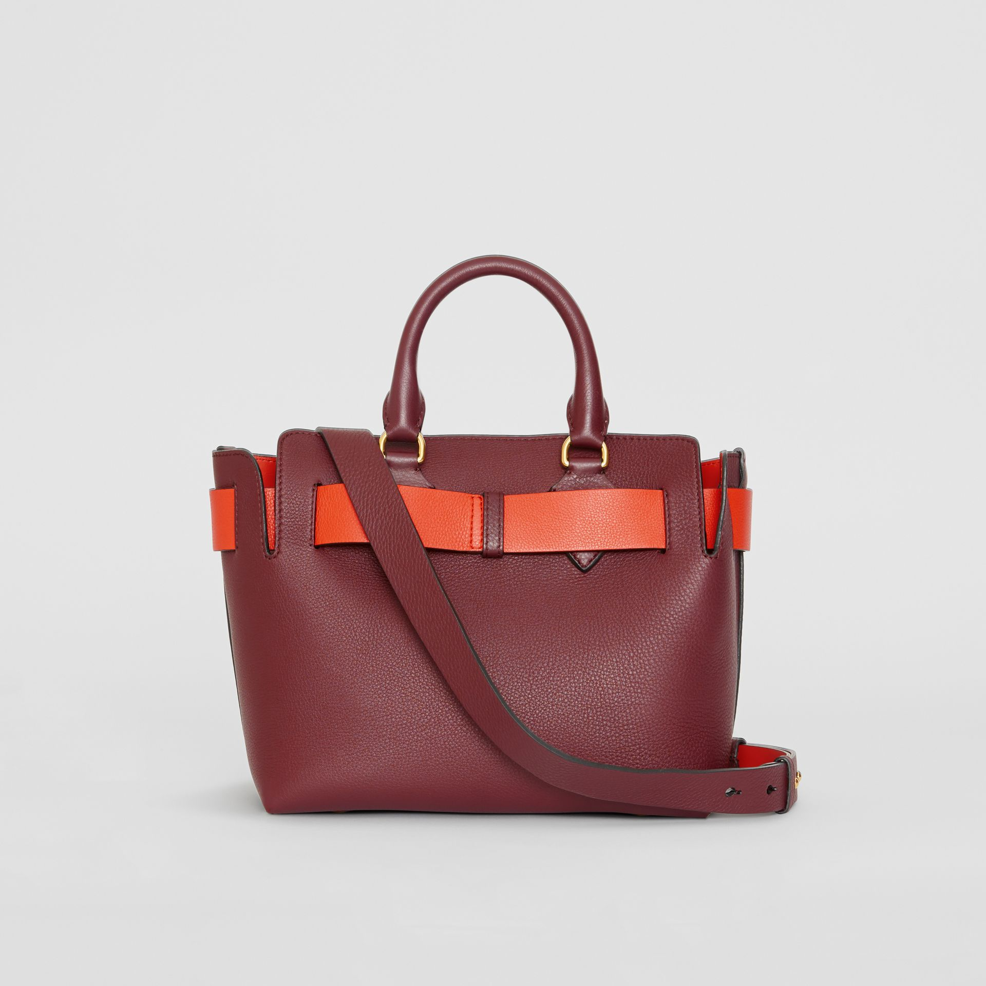 The Small Leather Belt Bag in Deep Claret - Women | Burberry - gallery image 8