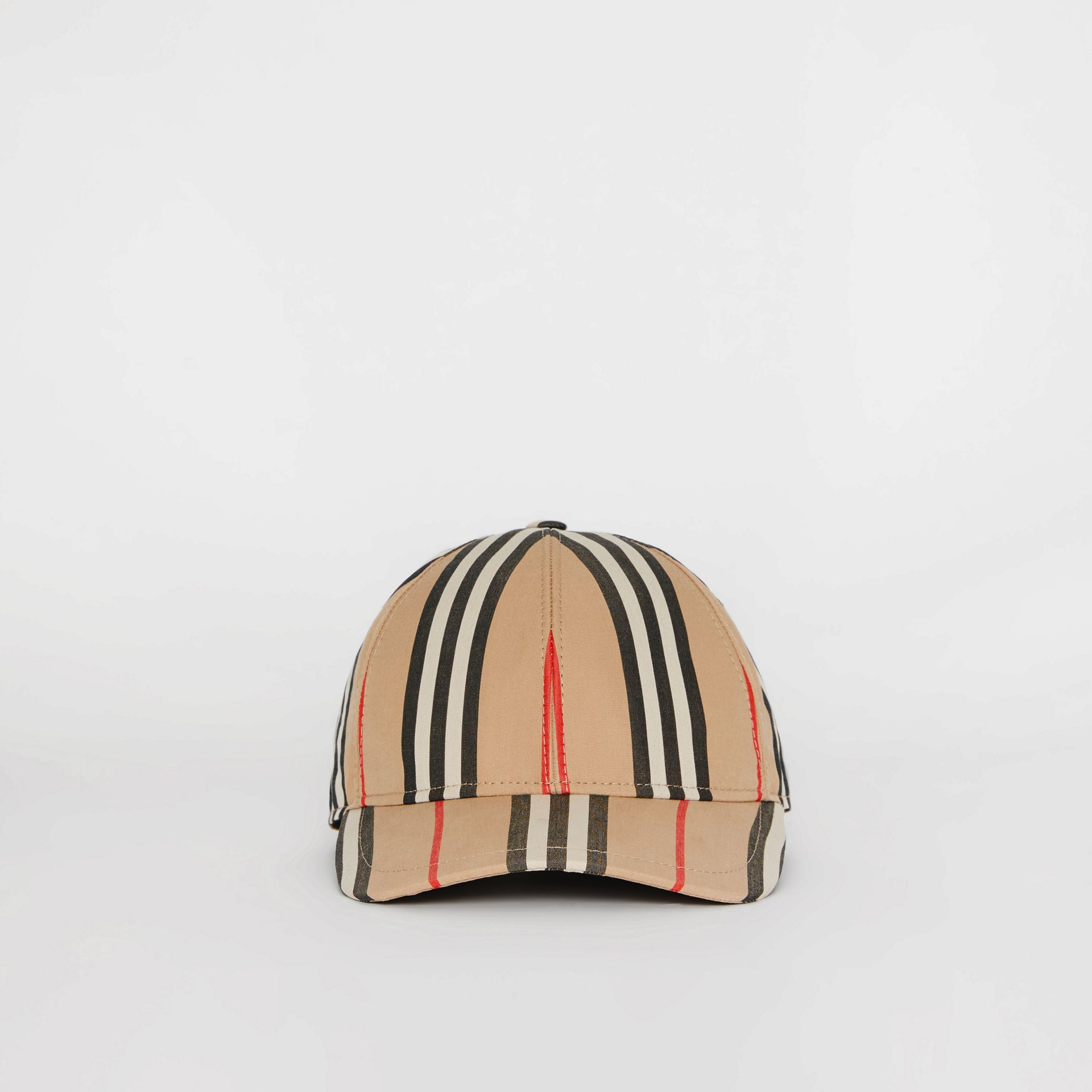 Icon Stripe Baseball Cap in Archive Beige | Burberry United Kingdom - gallery image 2