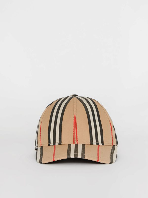 Icon Stripe Baseball Cap in Archive Beige | Burberry United Kingdom - cell image 2
