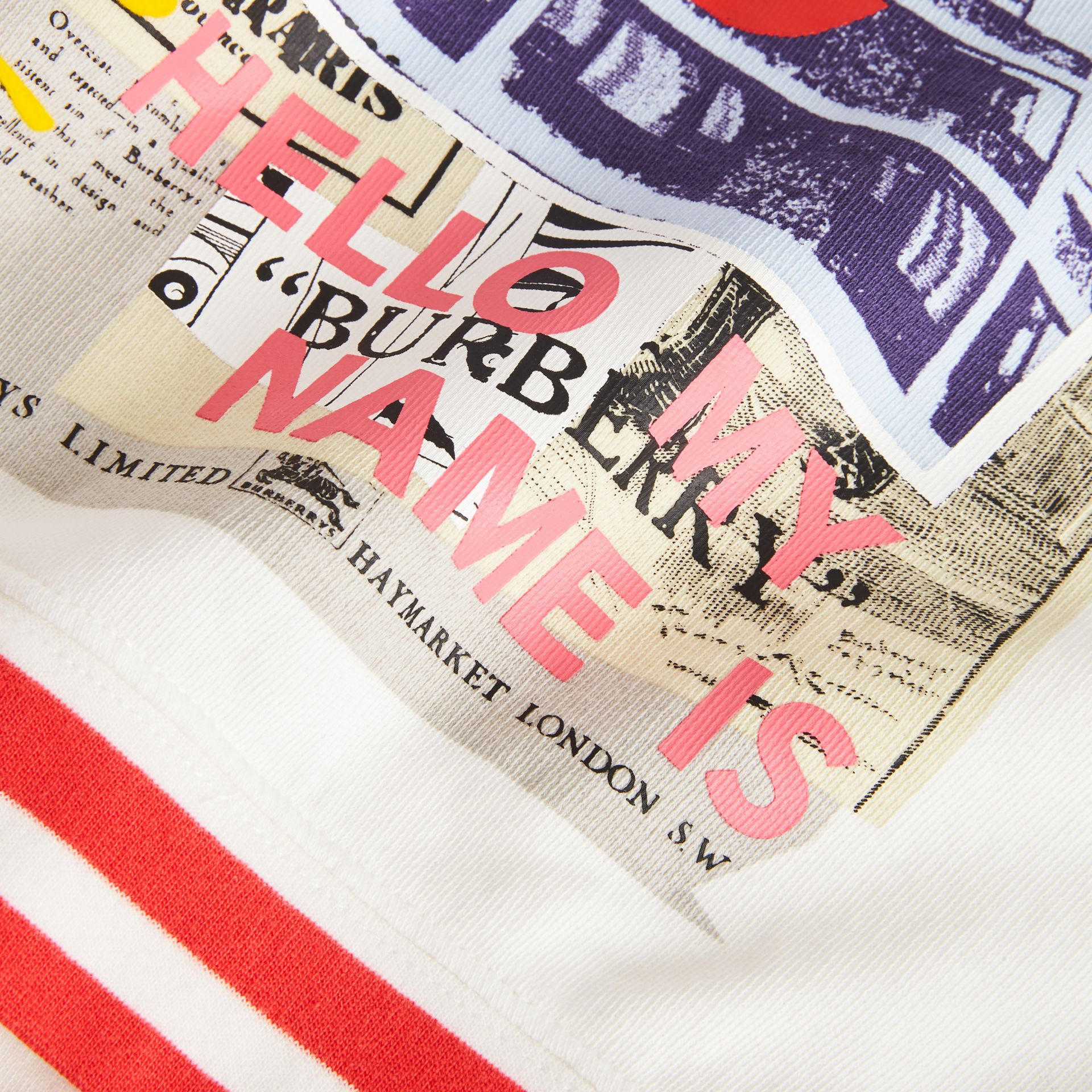 London Polaroid Print Cotton Sweatshirt in Ivory - Children | Burberry Canada - gallery image 1
