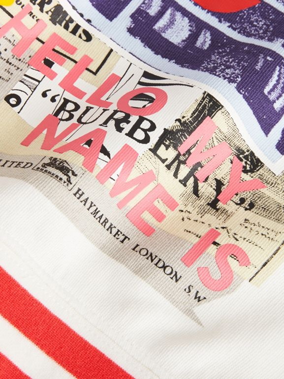 London Polaroid Print Cotton Sweatshirt in Ivory - Children | Burberry - cell image 1