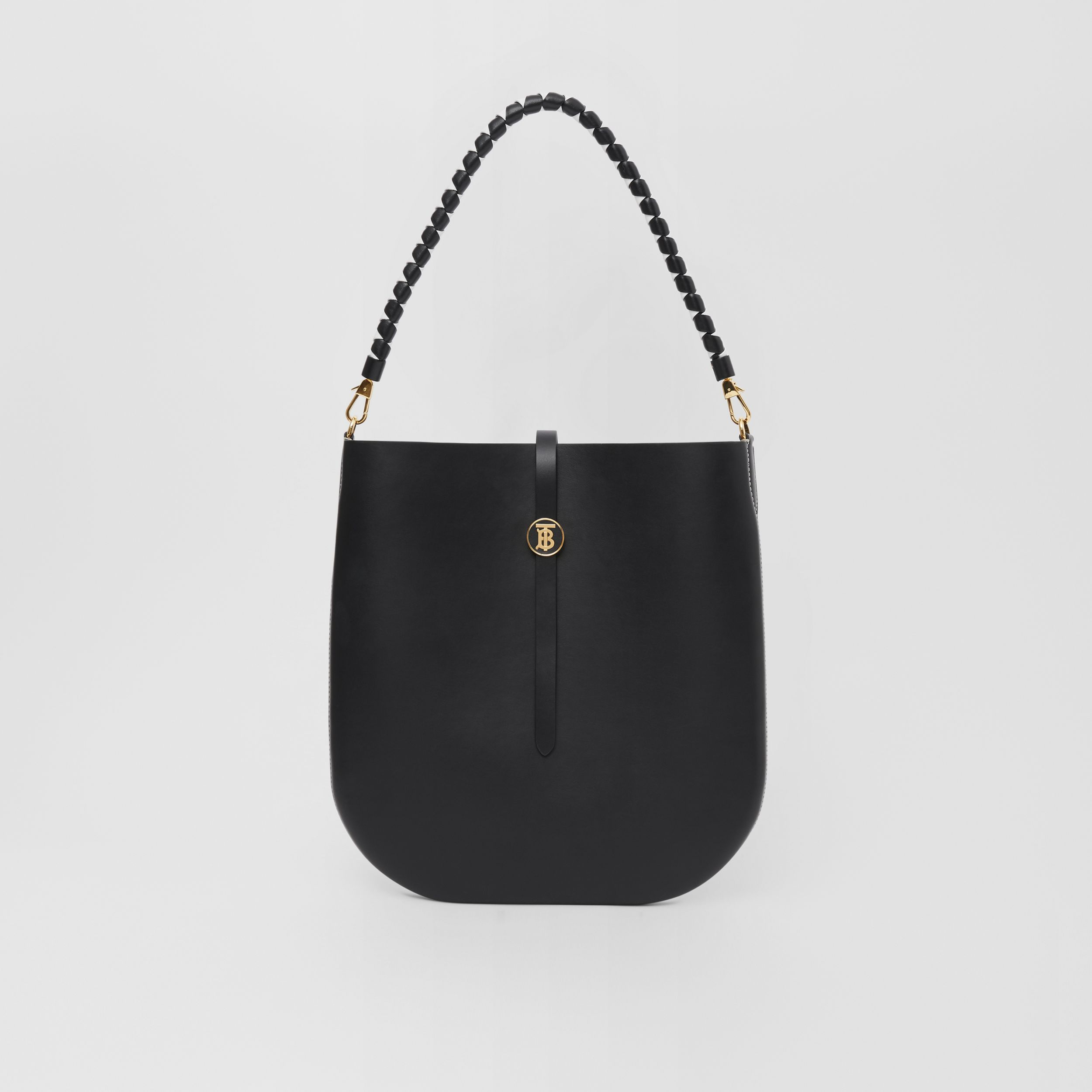 Leather Anne Bag in Black - Women | Burberry Australia - 1