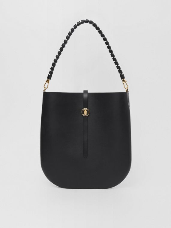 Borsa Anne in pelle (Nero)