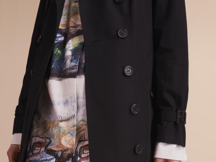 The Sandringham – Extra-long Heritage Trench Coat Black - cell image 4