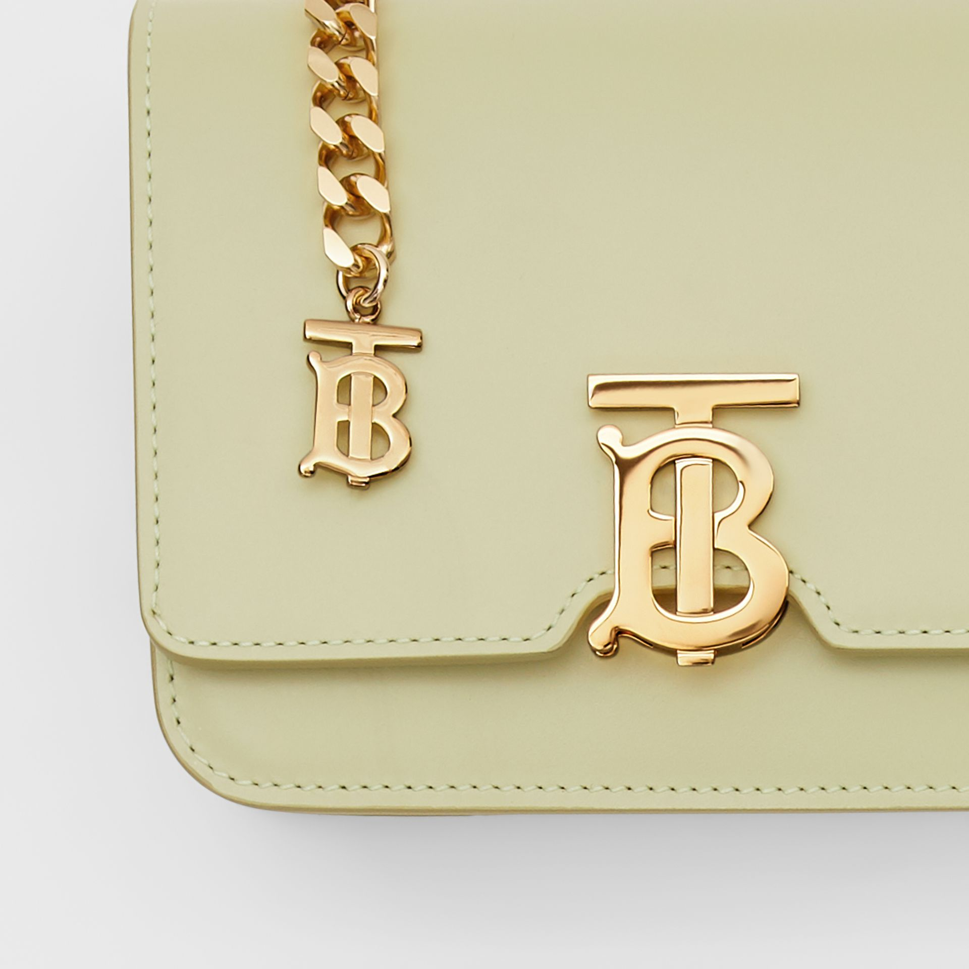 Belted Leather TB Bag in Pale Sage - Women | Burberry - gallery image 4