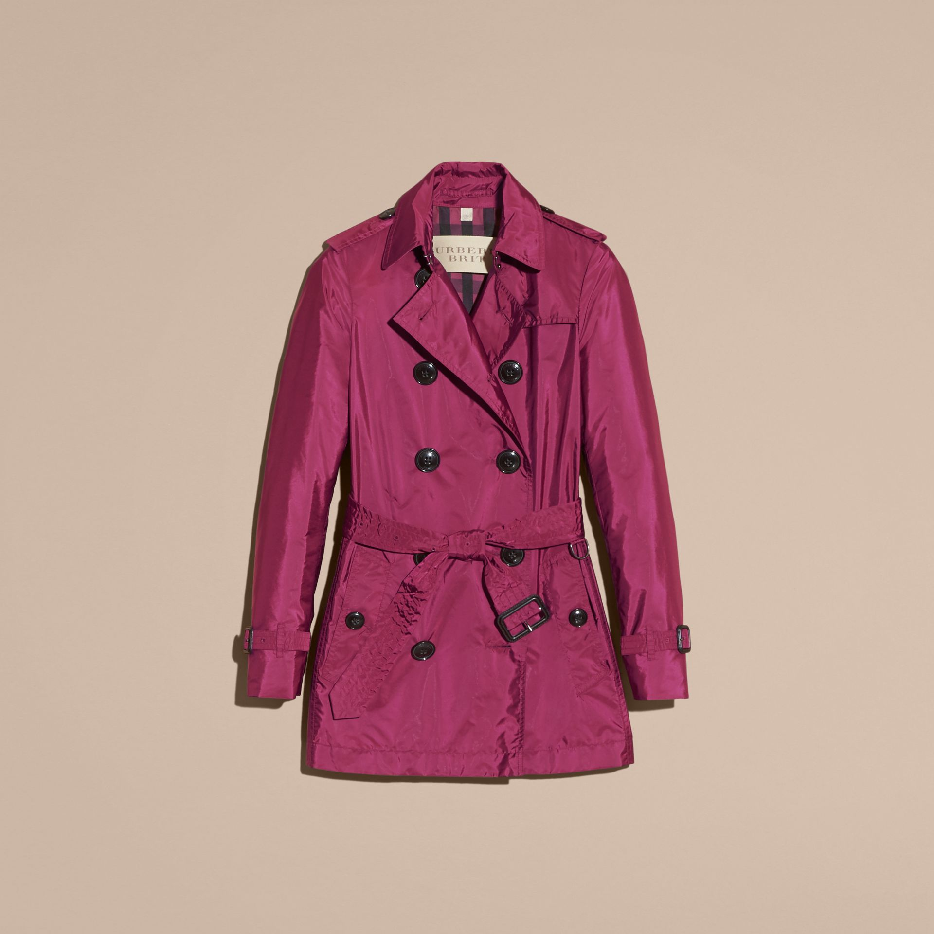 Lightweight Trench Coat in Berry Pink - gallery image 4