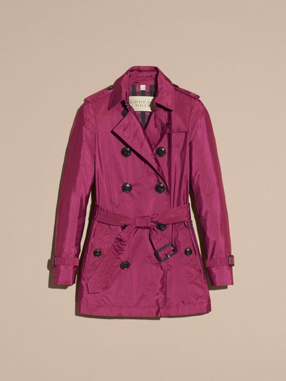 Lightweight Trench Coat in Berry Pink - cell image 3
