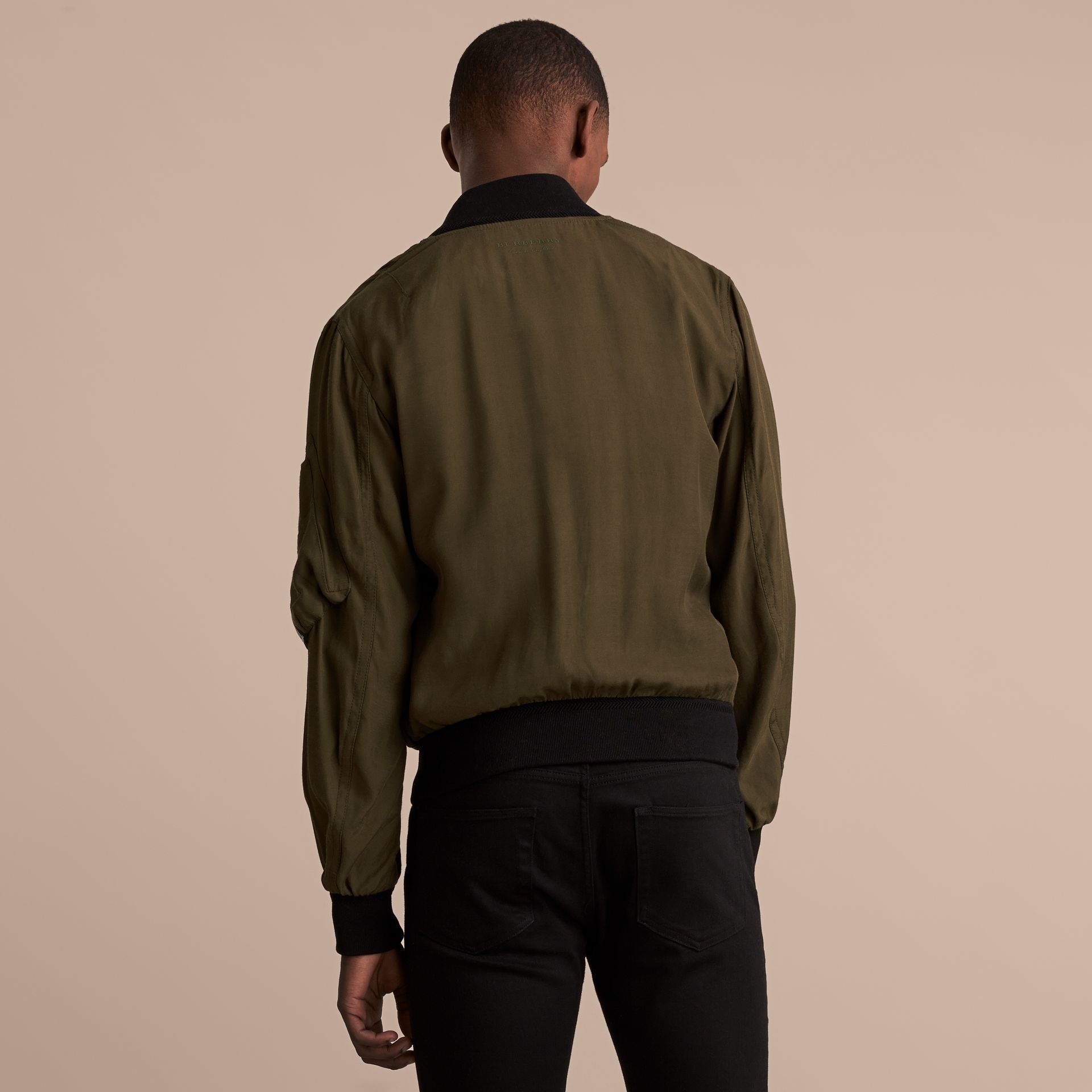 Technical Twill Bomber Jacket - Men | Burberry Australia - gallery image 3